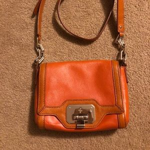 Cole Haan orange crossbody purse